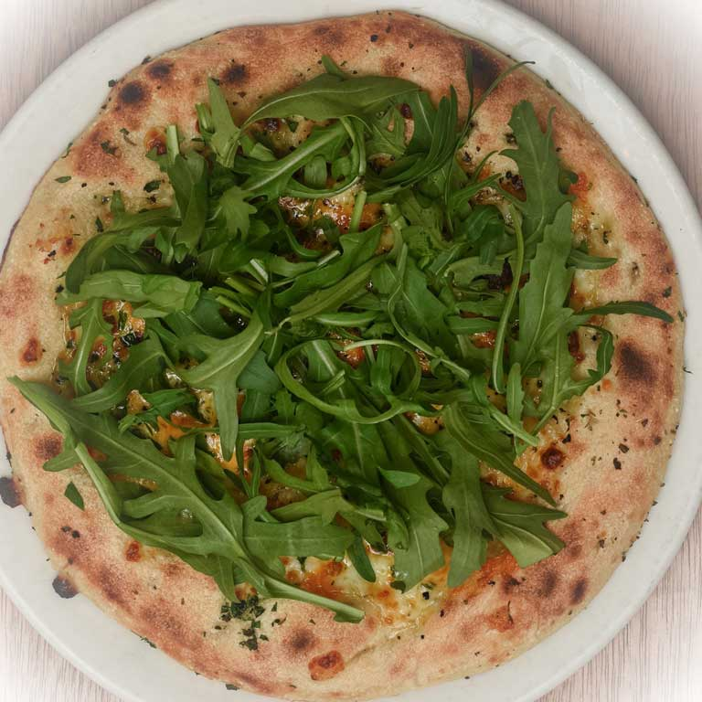 Cheese Bread with Rocket